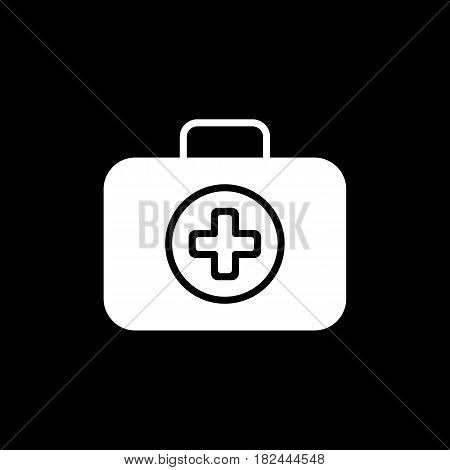 First Aid Kit Symbol and Medical Services Icon. Medical case symbol. Flat Design. Isolated. Eps 10