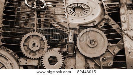 Steampunk Design Mechanical Background