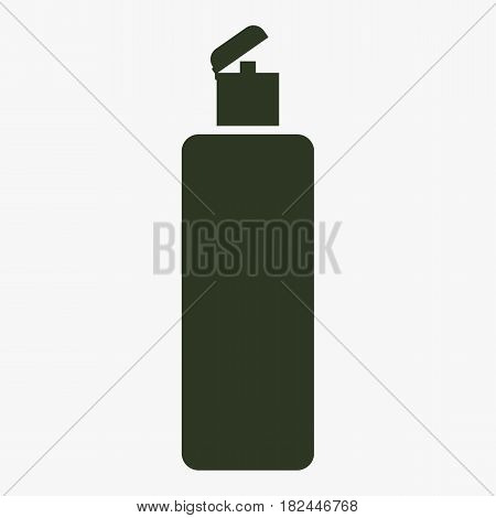 Shower Gel Liquid Soap Lotion Cream Shampoo Bath Foam. Vector icon.
