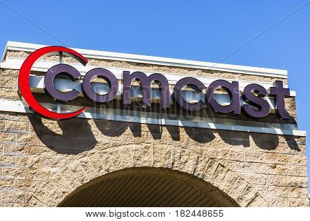 Fort Wayne - Circa April 2017: Comcast Service Center. Comcast is a multinational mass media company XIII