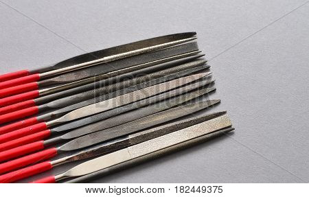 small rasps file hand tools equipment background