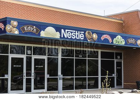 Fort Wayne - Circa April 2017: Edy's Grand Ice Cream Manufacturing Plant. Edy's is a subsidiary of the Nestle S.A. II