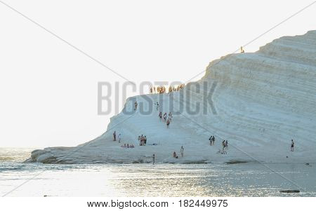 White cliff of Scala dei Turchi (Turkish Staircase) near Agrigento, Sicily