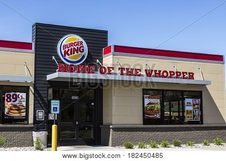 Fort Wayne - Circa April 2017: Burger King Retail Fast Food Location. Every day more than 11 million guests visit Burger King IV