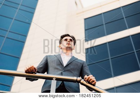 Happy Smiling Businessman Wearing Suit Near Office Successful Employer To Make A Deal While Standing