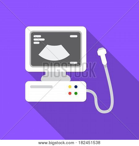 Ultrasound diagnostic icon in flat style isolated on white background. Pregnancy symbol vector illustration.