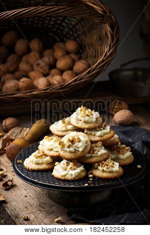 Old Fashioned Sour Cream Cookies.style rustic.selective focus
