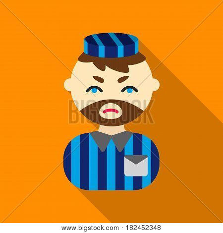 Prisoner flat icon. Illustration for web and mobile.