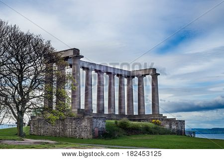 National Monument Of Scotland, On Calton Hill In Edinburgh, Scot