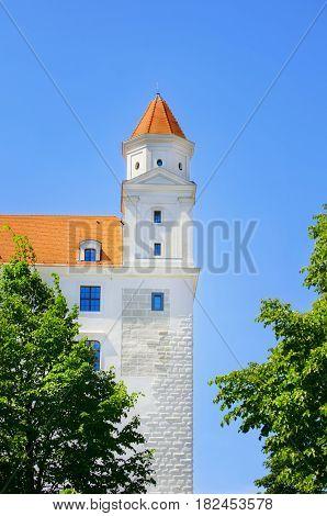 Photo of Bratislava Castle Part Over Blue Sky