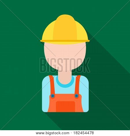 Oil worker icon in flat style isolated on white background. Oil industry symbol vector illustration.