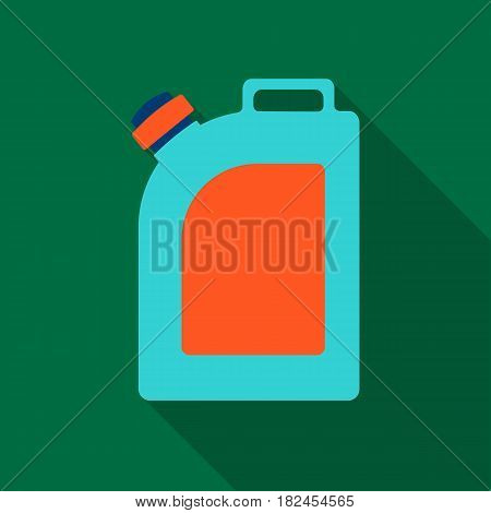 Oil jerrycan icon in flat style isolated on white background. Oil industry symbol vector illustration.