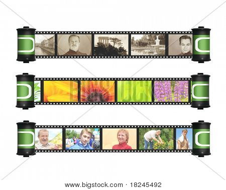 Memories - retro and modern photos with filmstrip