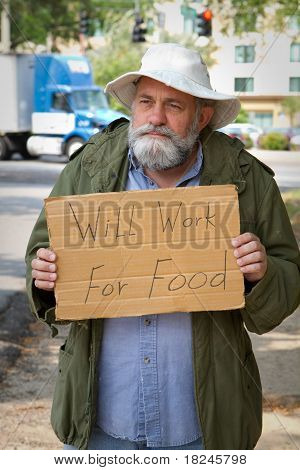 Begging With Sign