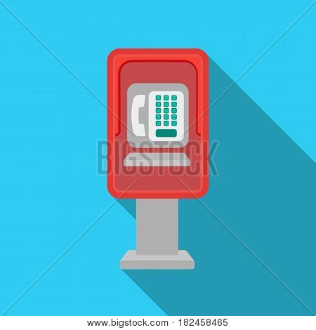 Payphone icon in flat style isolated on white background. Park symbol vector illustration.