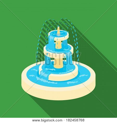 Fountain icon in flat style isolated on white background. Park symbol vector illustration.