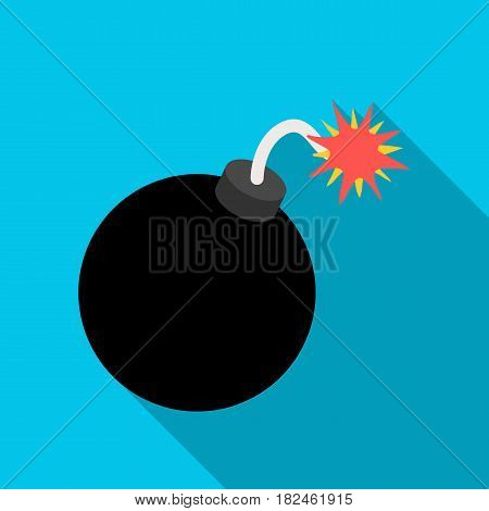 Pirate grenade icon in flat style isolated on white background. Pirates symbol vector illustration.