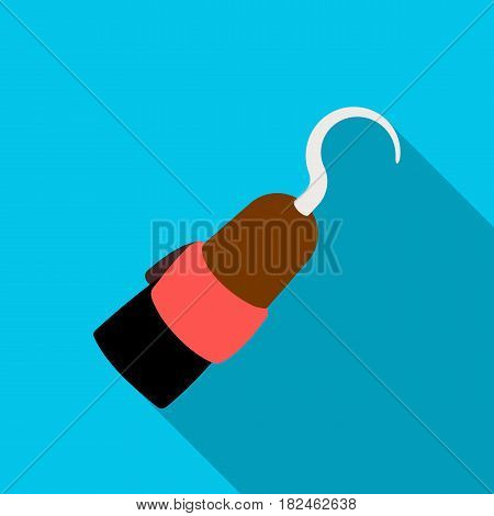 Pirate hook icon in flat style isolated on white background. Pirates symbol vector illustration.