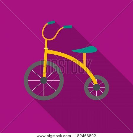 Tricycle icon in flat style isolated on white background. Play garden symbol vector illustration.