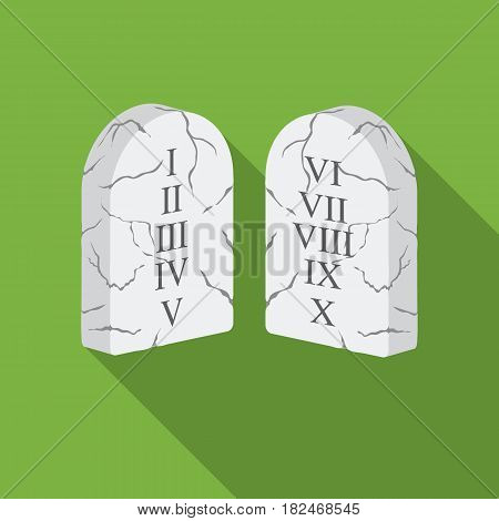 Ten Commandments icon in flat style isolated on white background. Religion symbol vector illustration.