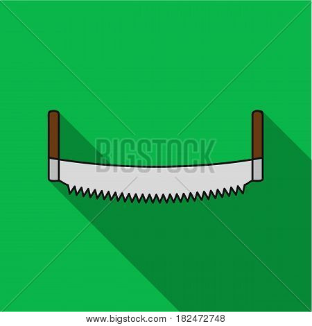 Two-man saw icon in flat style isolated on white background. Sawmill and timber symbol vector illustration.