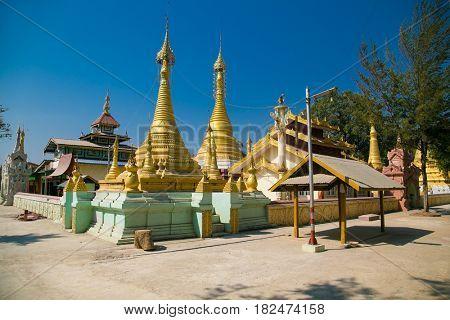 Ni Gaw Dar Yone  Pagoda in Nyaungshwe village , Myanmar. (Burma)