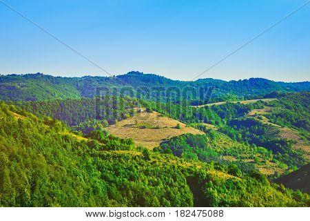 Bulgarian Mountain Landscape in the Summer Plovdiv region