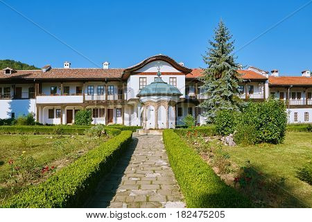 Sokolski Orthodox Monastery Located in Bulgaria on the Northern Slope of the Balkan Mountains