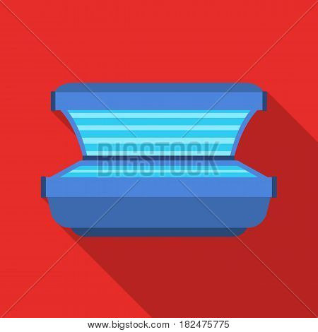 Tanning bed icon in flate style isolated on white background. Skin care symbol vector illustration.