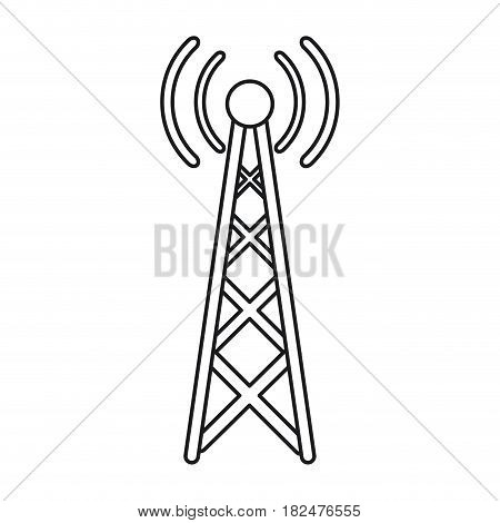 radio antenna transmission mast communication line vector illustration