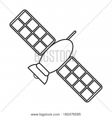 satellite telecommunication transmitter signal world line vector illustration eps 10
