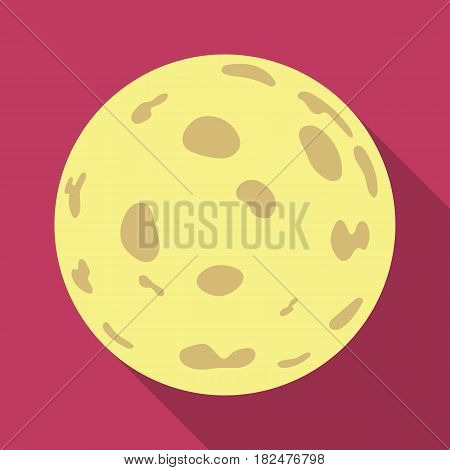 Moon icon in flate design isolated on white background. Sleep and rest symbol stock vector illustration.