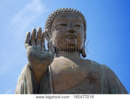 Giant Buddha complex on the Lantau island (Hong Kong)
