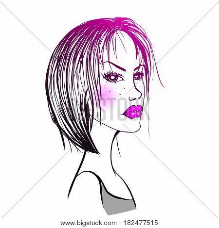 Vector Sulky Woman