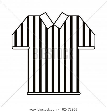 referee jersey stripes american football outline vector illustration eps 10