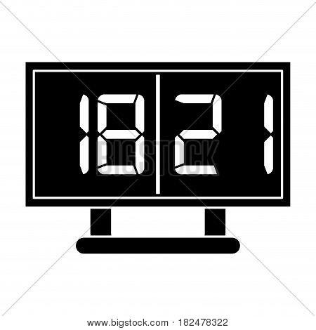 silhouette board score american football icon vector illustration eps 10