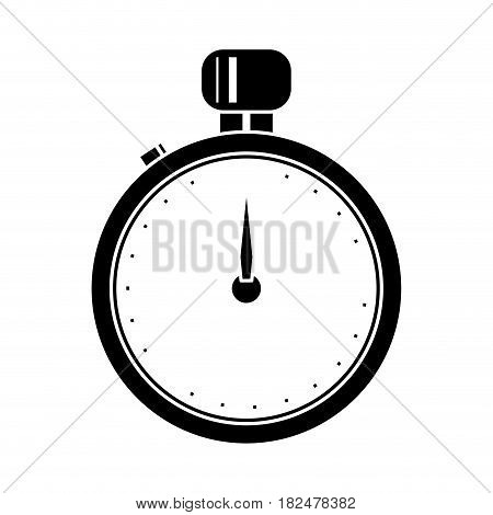silhouette stopwatch chronometer sport equipment vector illustration eps 10