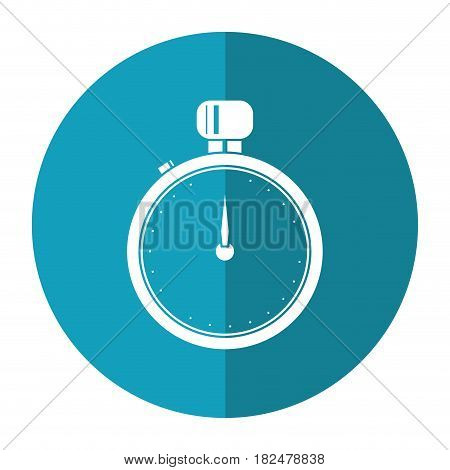 stopwatch chronometer sport equipment shadow vector illustration eps 10