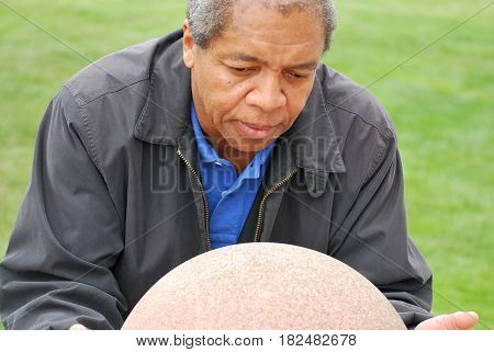 African american male expressions in nature outdoors.