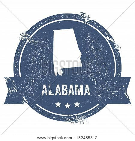 Alabama Mark. Travel Rubber Stamp With The Name And Map Of Alabama, Vector Illustration. Can Be Used