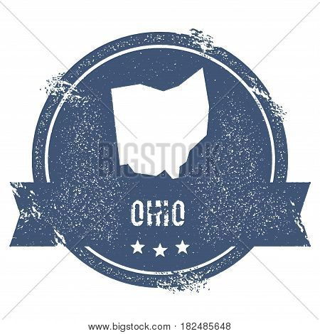 Ohio Mark. Travel Rubber Stamp With The Name And Map Of Ohio, Vector Illustration. Can Be Used As In