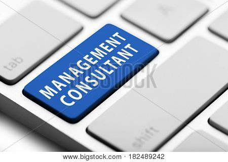 MANAGEMENT CONSULTANT button on keyboard, closeup