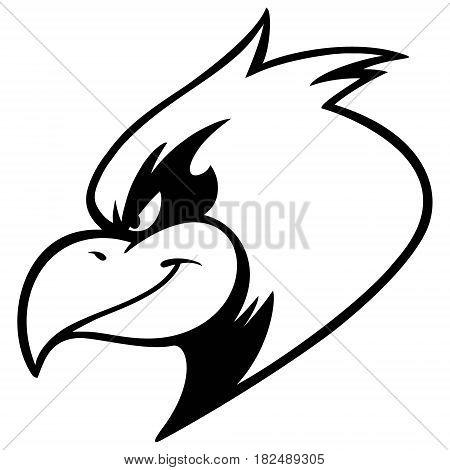 A vector illustration of a Cardinal mascot.