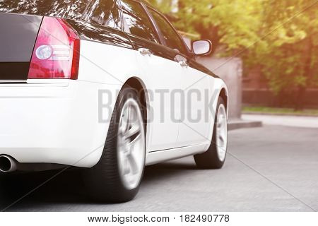 Car driving on road