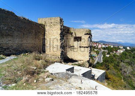 Bebris Tsikhe Fortress And View On Mtskheta, Georgia