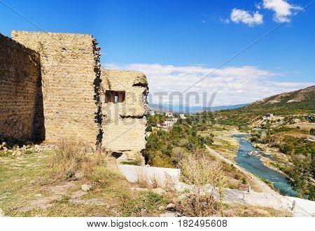 Bebris Tsikhe Fortress And View On Aragvi River. Mtskheta, Georgia