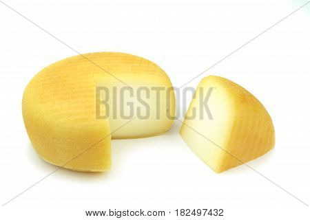 Cheese isolated on white background on white background