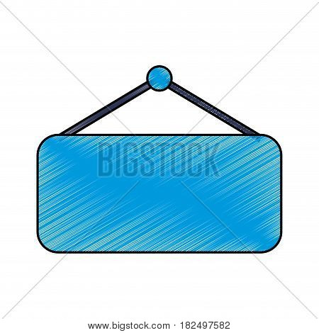 Empty sign isolated scribble icon vector illustration
