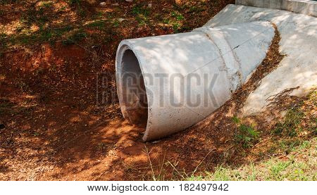 cement drain pipe underground for water flow