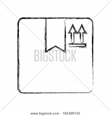Delivery box isolated draw icon vector illustration